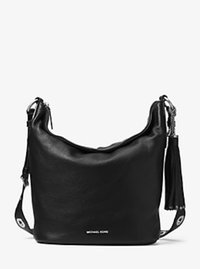 Brooklyn Large Leather Feed Bag - BLACK - 30F6ABNL3L