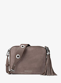 Brooklyn Large Suede Camera Bag - CINDER - 30F6ABNM3S