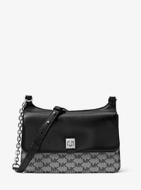 Natalie Medium Heritage Signature Messenger - BLACK - 30F6ANEM2V