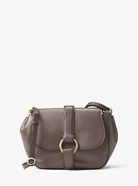 Quincy Medium Leather Saddlebag - CINDER - 30F6AQYM2L
