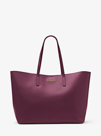 Emry Extra-Large Leather Tote - Plum - 30F6GE4T4L