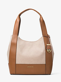 Marlon Large Canvas and Leather Shoulder Tote - NATURAL - 30F6GM7E3C