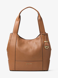 Marlon Large Leather Shoulder Tote - ACORN - 30F6GM7E3L