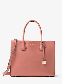 Mercer Large Bonded-Leather Satchel - ANTIQUE ROSE - 30F6GM9T3L