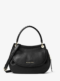 Viv Medium Leather Messenger - BLACK - 30F6GVBM2L