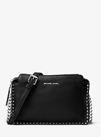 Astor Large Leather Crossbody - BLACK - 30F6SATM3L