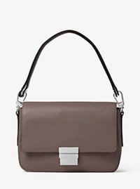 Madelyn Large Leather Shoulder Bag - CINDER - 30F6SM6L3L