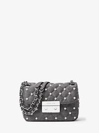 Sloan Small Quilted-Felt Shoulder Bag - GREY - 30F6SPSL5C
