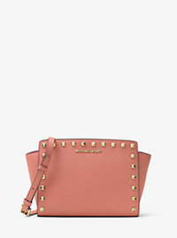 Selma Medium Studded Leather Messenger - ANTIQUE ROSE - 30T3GSMM2L
