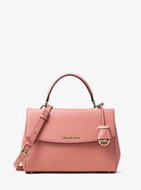 Ava Medium Saffiano Leather Satchel - ANTIQUE ROSE - 30T5GAVS3L