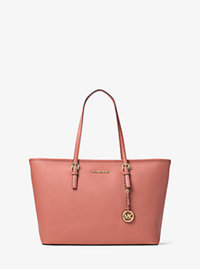 Jet Set Travel Medium Saffiano Leather Top-Zip Tote - ANTIQUE ROSE - 30T5GTVT2L