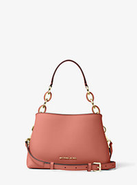 Portia Small Saffiano Leather Shoulder Bag - ANTIQUE ROSE - 30T6GPAL1L