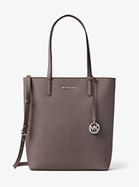Hayley Large Top-Zip Leather Tote - CINDER - 30T6SH3T3L
