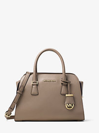 Harper Medium Leather Satchel - DARK DUNE - 30F6GRPS2L