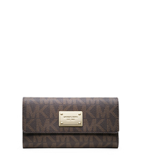 Jet Set Logo Wallet - BROWN - 32F1GJSE4B