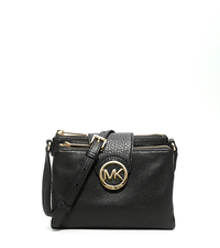 Fulton Small Saffiano Leather Crossbody - BLACK - 32H1GFTC3L