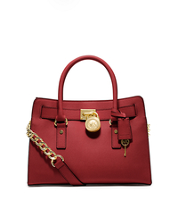 Hamilton Saffiano Leather Medium Satchel - RED - 30S2GHMS3L