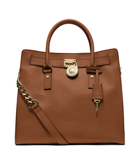 Hamilton Large Saffiano Leather Tote - LUGGAGE - 30S2GHMT3L