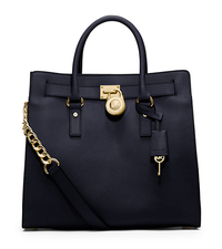 Hamilton Large Saffiano Leather Tote - NAVY - 30S2GHMT3L