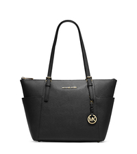 Jet Set Top-Zip Saffiano Leather Tote - BLACK - 30F2GTTT8L