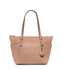 Jet Set Top-Zip Saffiano Leather Tote - BLUSH - 30F2GTTT8L