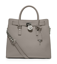 Hamilton Saffiano Leather Large Tote - PEARL GREY - 30T2SHMT3L