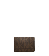 Jet Set Men's Logo Card Case - BROWN - 39F2MMND1B