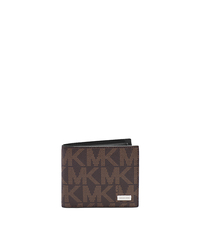 Jet Set Men's Leather Billfold - BROWN - 39F2MMNF3B