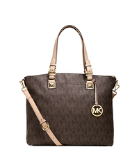 Jet Set Logo Satchel - BROWN - 30H2GTTS9B