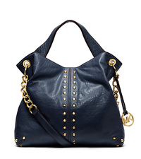 Astor Leather Shoulder Bag - NAVY - 30T1MUAT7L