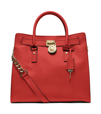 Hamilton Large Saffiano Leather Tote - WATERMELON - 30S2GHMT3L