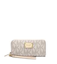 Zip-Around Logo Continental Phone Wristlet - VANILLA - 32S3MELE1B