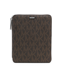 Jet Set Signature PVC Mini Tablet Case - BROWN - 39S3MMNL3B