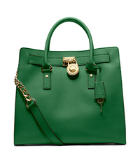 Hamilton Large Saffiano Leather Tote - GOOSEBERRY - 30S2GHMT3L