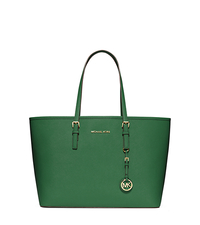 Jet Set Travel Medium Saffiano Leather Tote - GOOSEBERRY - 30S3GTVT6L