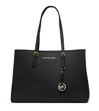 Jet Set Travel Saffiano Leather Tote - BLACK - 30T3GTVT7L