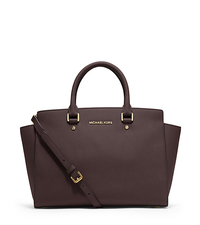 Selma Large Saffiano Leather Satchel - COFFEE - 30S3GLMS7L