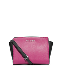 Selma Color-BLock Saffiano Leather Medium Messenger - ONE COLOR - 30T3MLMM2T