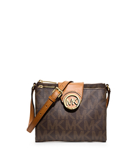 Fulton Small Saffiano Leather Messenger - BROWN - 32F3GFTC3B