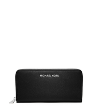 Jet Set Travel Leather Continental Wallet - BLACK - 32T3STVE3L