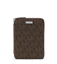 Jet Set Men's Logo Mini Tablet Case - BROWN - 39F3MMNL2B