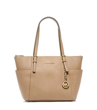 Jet Set Top-Zip Saffiano Leather Tote - DARK KHAKI - 30F2GTTT8L