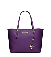 Jet Set Travel Saffiano Leather Small Tote - VIOLET - 30H1GTVT1L