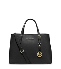 Jet Set Travel Saffiano Leather Medium Tote - BLACK - 30H3GTVT8L
