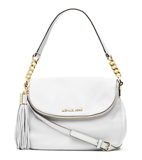 Bedford Tassle Medium Leather Shoulder Bag - Optic White - 30H3GWSL6L