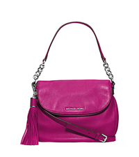 Bedford Leather Medium Shoulder Bag - FUCHSIA - 30H3SWSL6L