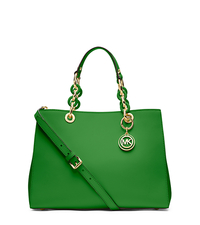 Cynthia Medium Leather Satchel - PALM GREEN - 30S3TCYS2L
