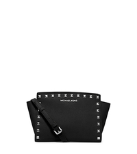 Selma Medium Studded Leather Messenger - BLACK - 30T3SSMM2L