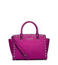 Selma Studded Saffiano Leather Satchel - ONE COLOR - 30T3SSMS2L