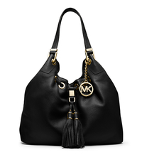 Camden Large Leather Shoulder Bag - BLACK - 30S4GMDE3L